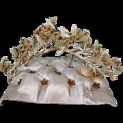 Antique French Wax Headdress