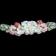 Vintage Silk Ribbon Floral Applique for Doll