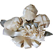 Antique Silk Floral Corsage for Doll