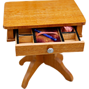 Antique Miniature Sewing Table by Schneegas