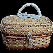 French Antique Miniature Basket for Mignonette