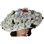 Fabulous Flo-Raye Original Hat with Clusters of Flowers