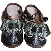 Antique Leather Shoes for Smaller Doll