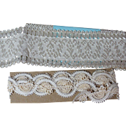 Two Beautiful Antique Trims for Doll Costuming