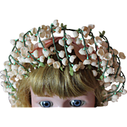 Vintage Floral Headdress for Doll