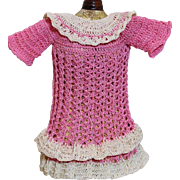 Vintage Crocheted Dress for Small Doll