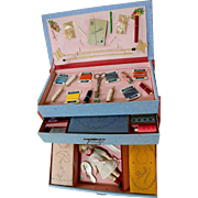 French Sewing Dresser Kit with Dolls