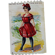 Antique Miniature Silk Advertising Picture