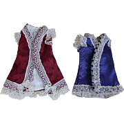 Two Vintage Mignonette Dresses for All Bisque Doll