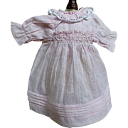 Darling Pink Cotton Dress for Smaller Doll