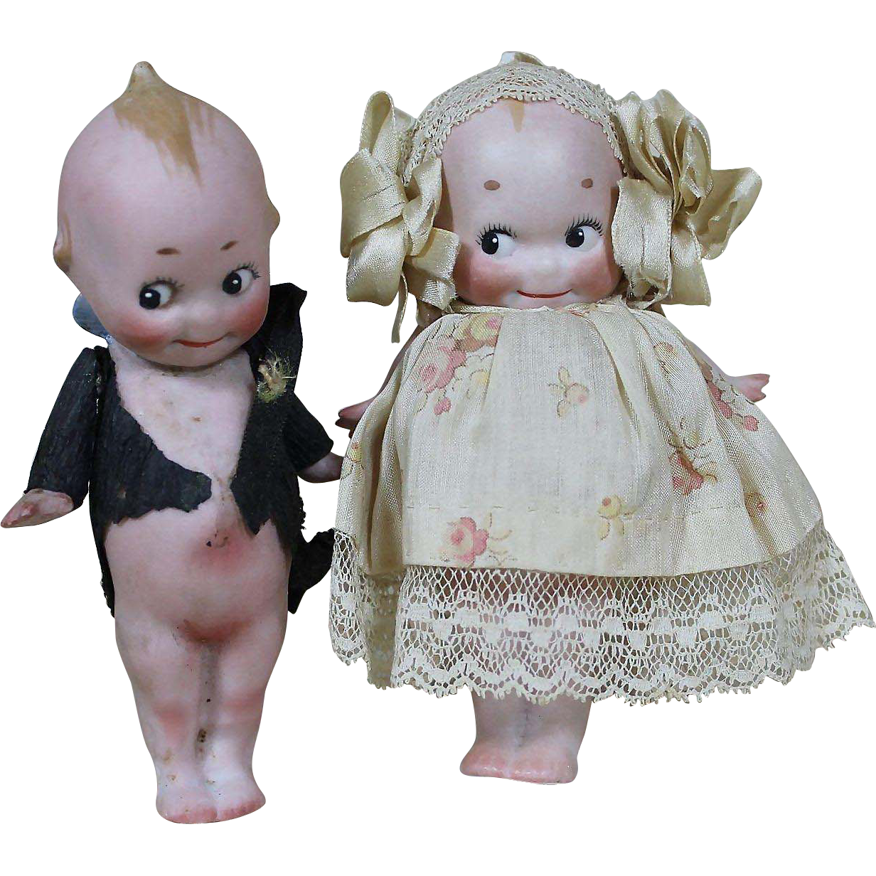 "Darling 4 1/2"" Kewpie Bride and Groom"