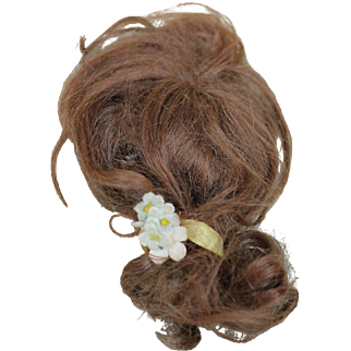 Antique Mohair Wig for Lady Doll