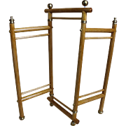 Small Folding Wooden Screen for Doll