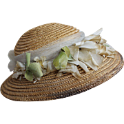 Antique Straw Hat for Large Doll