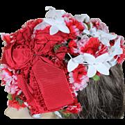 Vintage Norman Paulvin Floral Hat