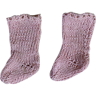 Lovely Hand Knit Pink Doll Stockings