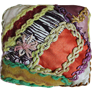 Adorable Miniature Crazy Quilt Pillow