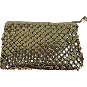 Whiting Davis Vintage Gold Metal Mesh Purse with Provence