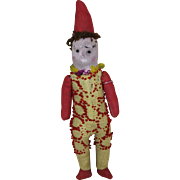 "Early 7 1/2"" Cloth Jester Doll"