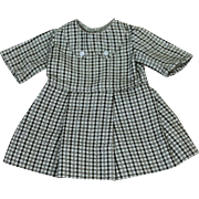 Vintage Wool Dress for Small Doll