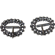 Miniature Marcasite Silver Buckles for Doll Shoes
