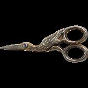 Miniature Stork Sewing Scissors