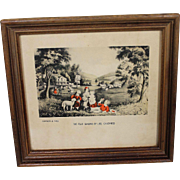 Miniature Currier & Ives Print Childhood