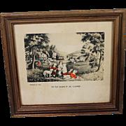 Miniature Currier & Ives Print Childhood