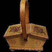 Vintage Wooden Basket for Doll