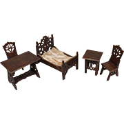 Delightful Carved Wooden Doll House Furniture