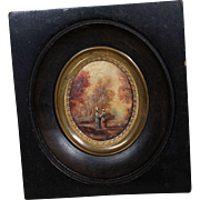Antique French Miniature Painting