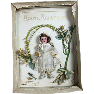 Incredible French Wedding Box with Doll and Wax Headdress