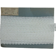 10 Yards of Vintage French Lace on Original Card