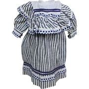 Antique Cotton Dress for Cabinet Size Doll