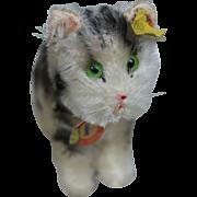 "Vintage 4"" Steiff Tabby Cat"