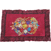 Charming Antique Miniature Wool Rug