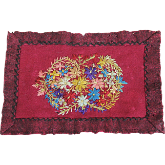 Charming Antique Miniature Wool Rug
