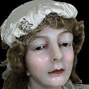 Elegant Vintage Satin Ladies Bridal Hat