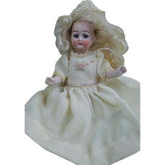 "Sweet 5"" Swivel Head German All Bisque Doll"