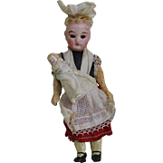 """All Original 6 1/4"""" Nanny Doll with Baby"""