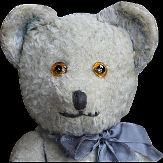 """Vintage 10"""" Blue French Teddy Bear"""