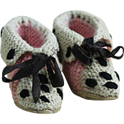 Darling Antique Wool Knit Slippers for Fashion
