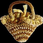 Vintage Crocheted Miniature Purse