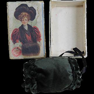Fabulous Antique Fashion Muff and Box