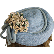 Lovely Vintage Hat with Flowers