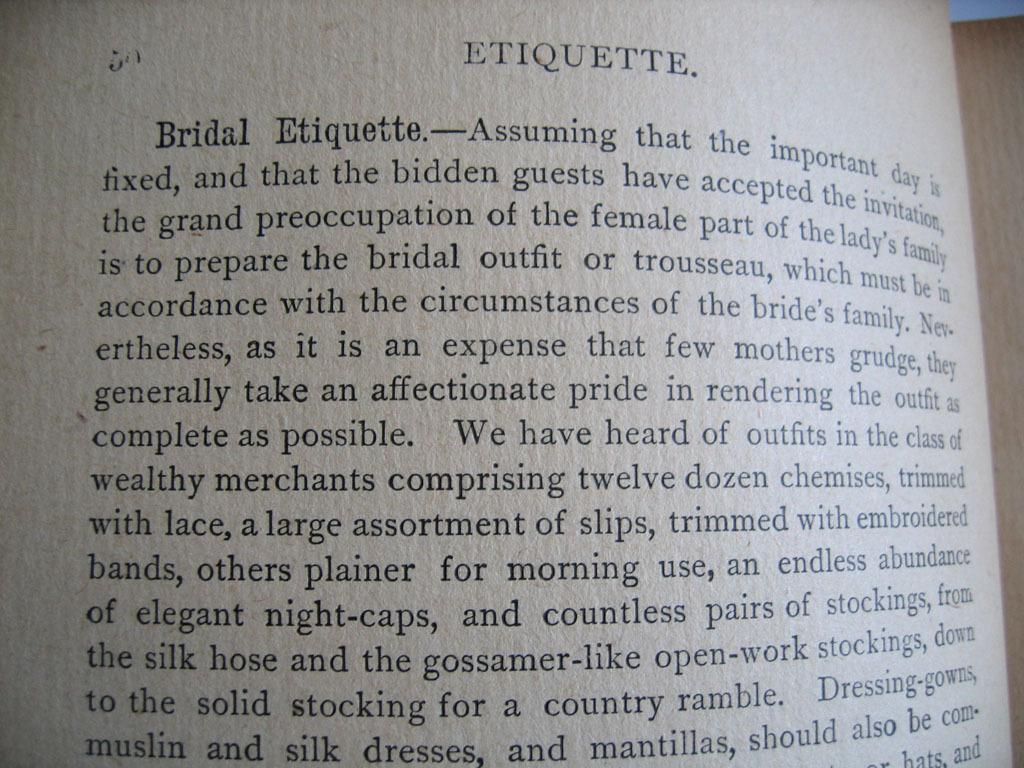 Wedding Gift Receipt Etiquette : c1883 The Housekeepers Companion Etiquette Toilette Hysteria Bridal ...