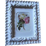 c1890's Paul de Longpre Roses Print Frame Chromolithograph
