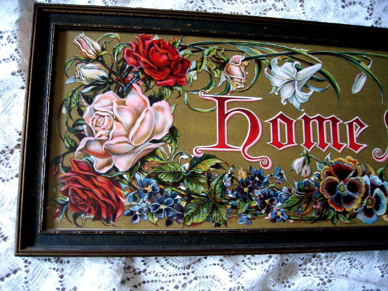 Victorian Painting Lithograph Home Sweet Home