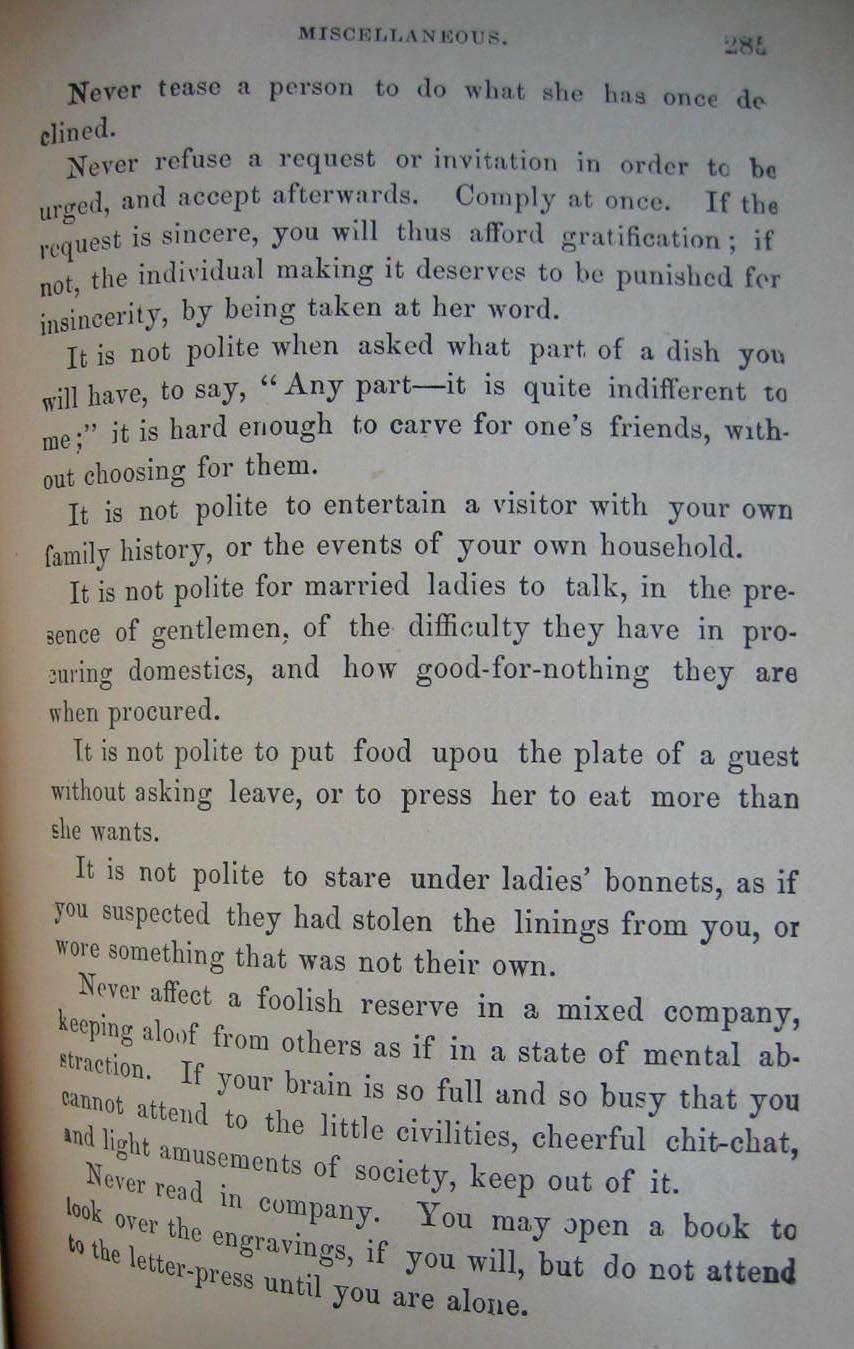 Wedding Gift Receipt Etiquette : c1882 Ladies Book of Etiquette and Manual of Politeness Hartley SOLD ...