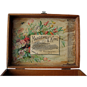 c1895 Antique Seed Box Mandeville King Paul de Longpre Print Chromolithograph Flower Floral